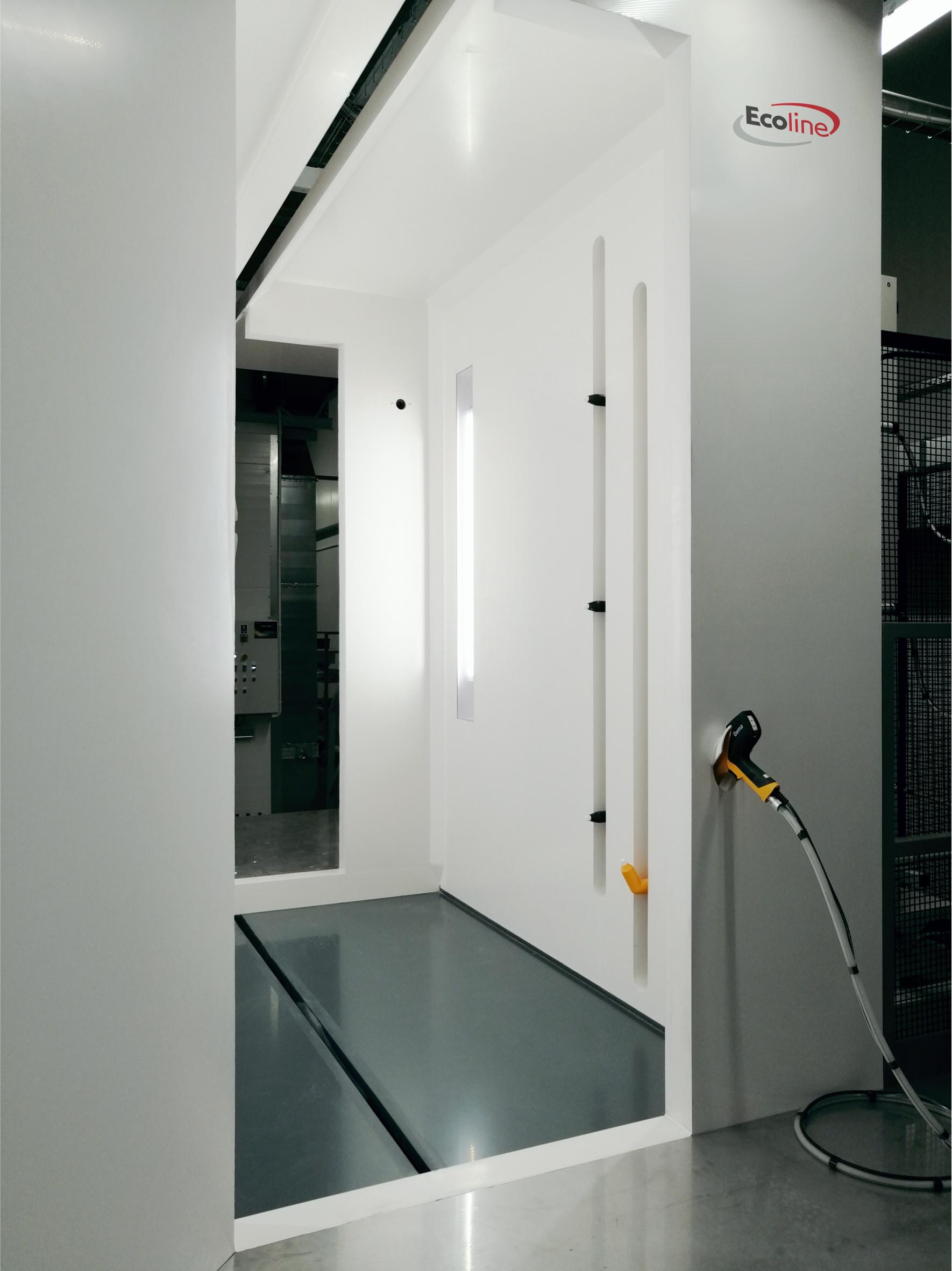 Wnętrze kabiny dielektrycznej